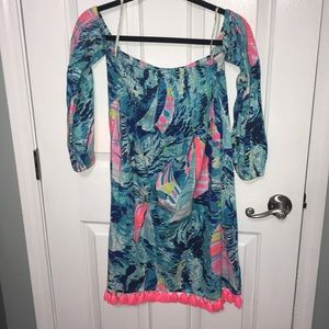 Lilly Pulitzer Dress off the shoulders worn once